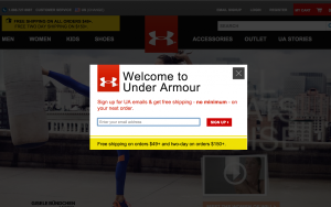 under armour first time visitor