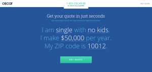 growth hacking landing page interactive form