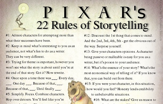 pixar rules of storytelling - feature