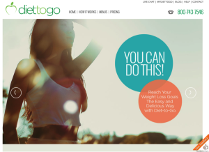 Diet to to landing page