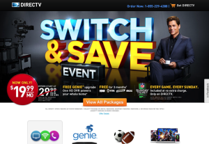 Direct Tv landing page