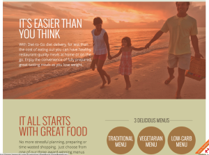 landing page for diet to go