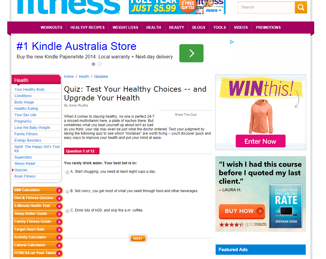 fitness kindle
