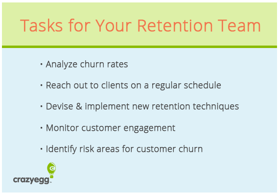 task for retention team