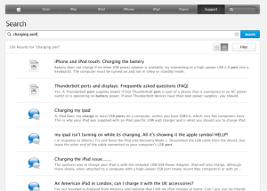 Apple's knowledge base