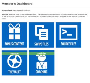 Videofruit Member's Dashboard