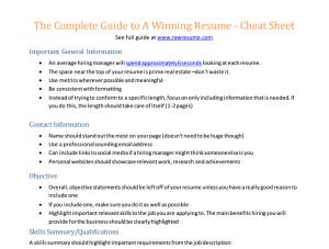 basic cheat sheet