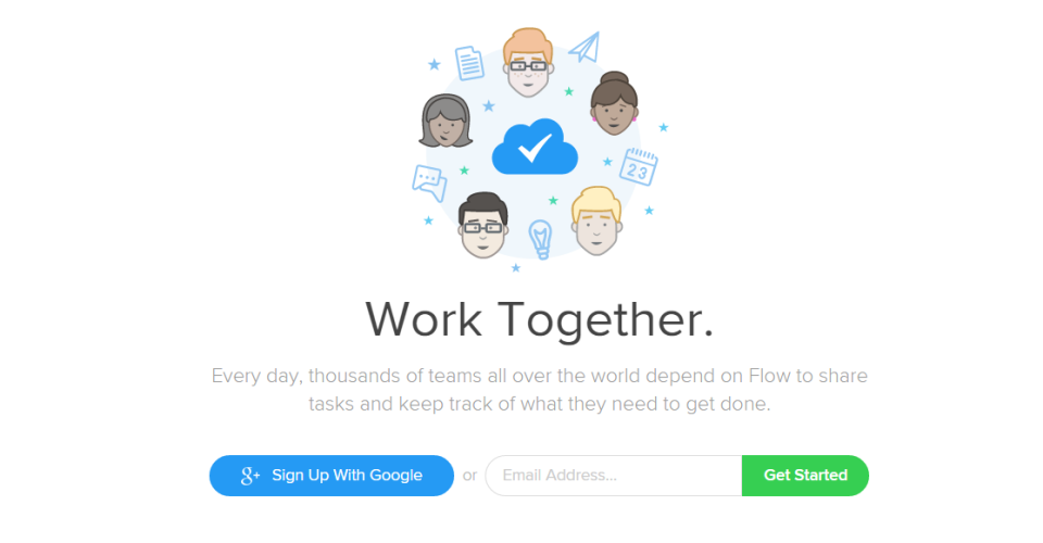 Flow home page
