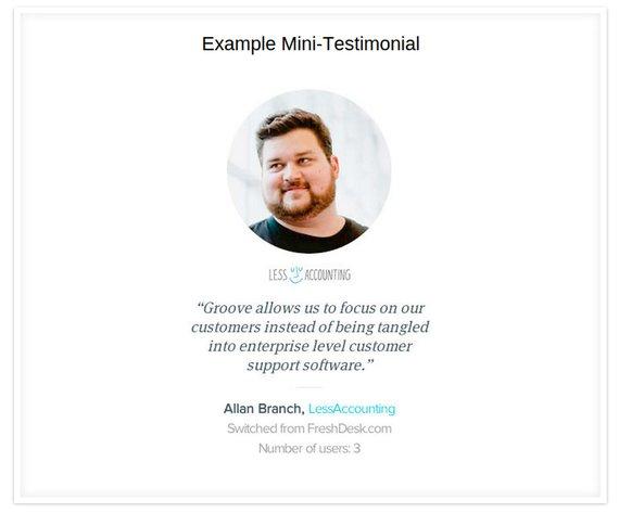 example testimonial