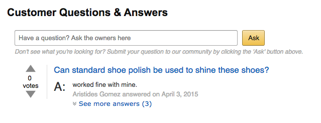 amazon qualitative feedback
