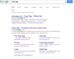 crazy egg Google Search