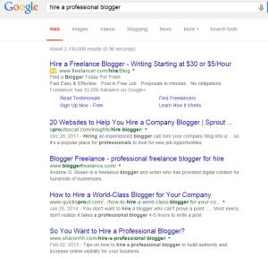 hire a professional blogger Google Search