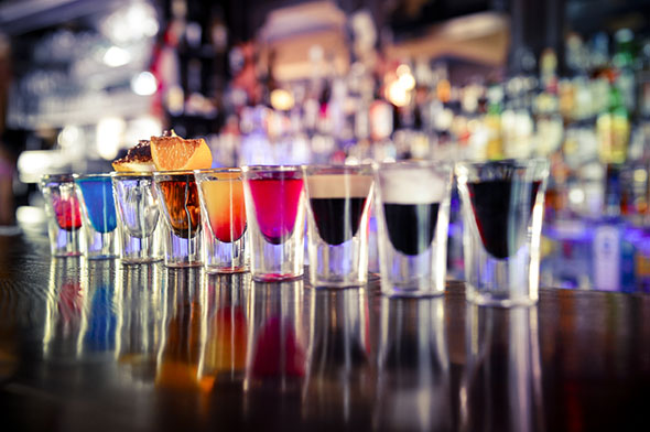 Shots cocktails