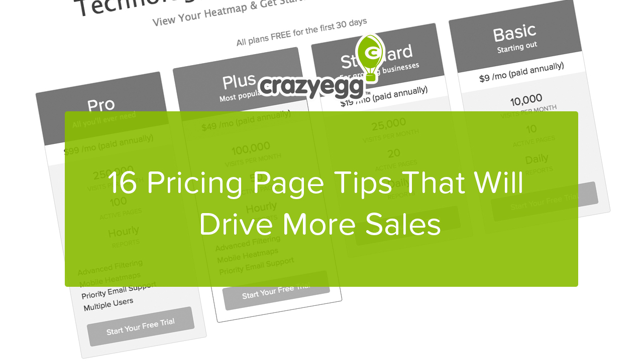16 pricing page tips