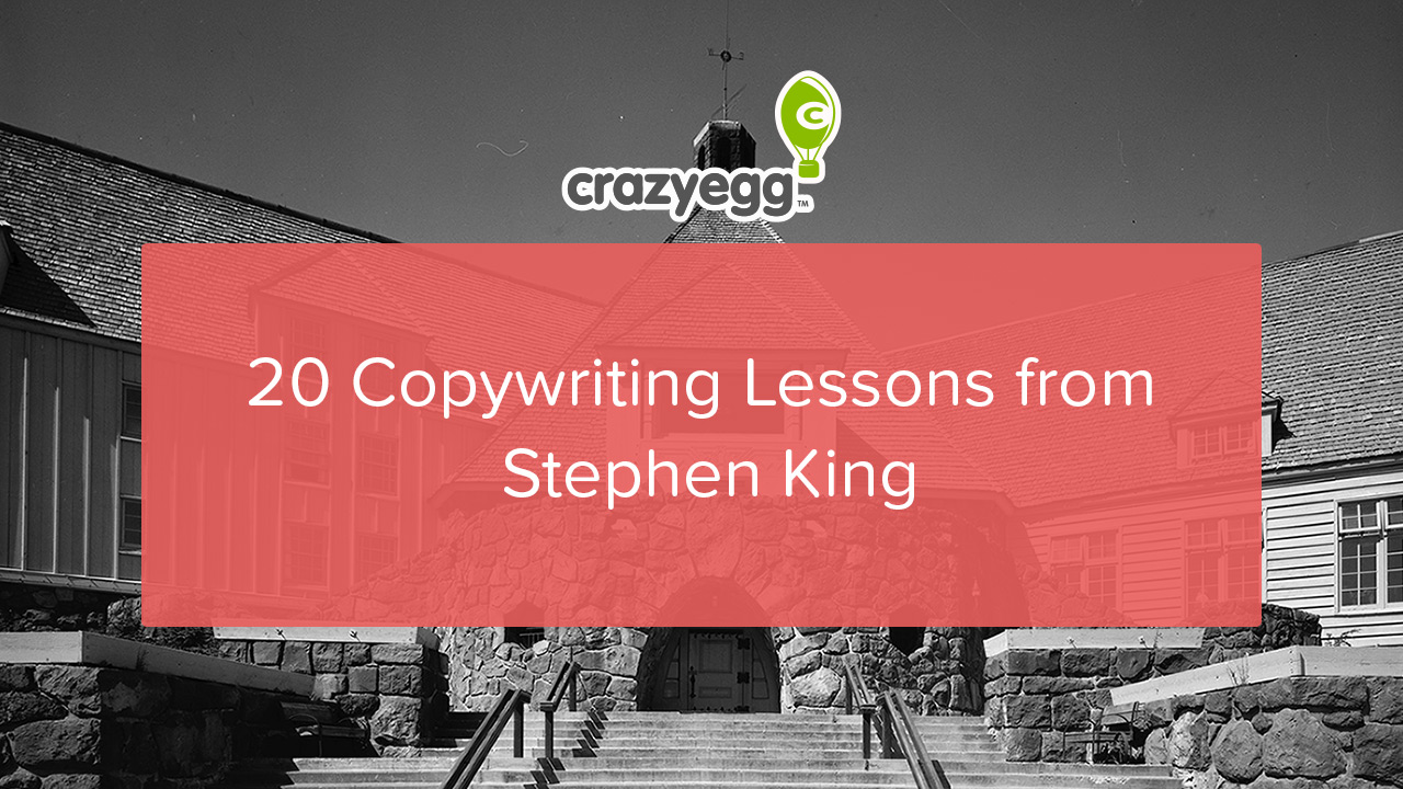 20 copywriting lessons from Stephen King