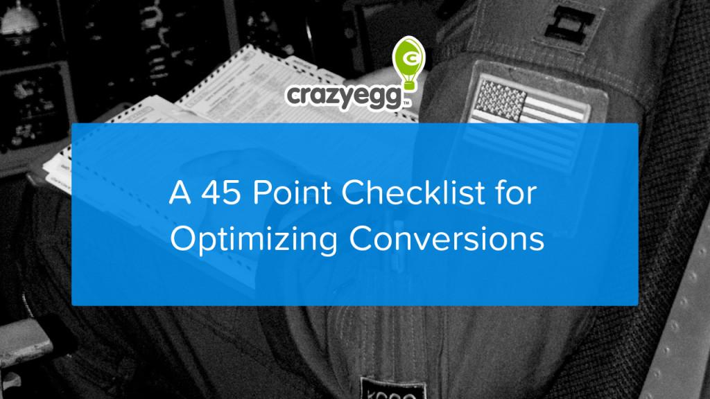 45 point CRO checklist