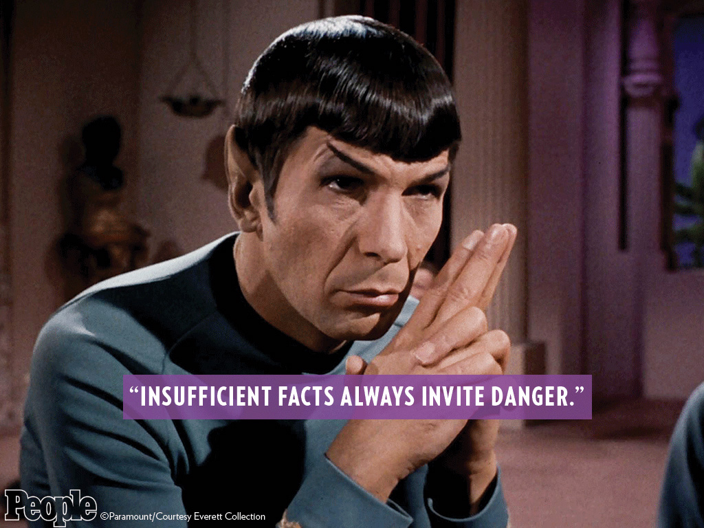 spock insufficient facts quote