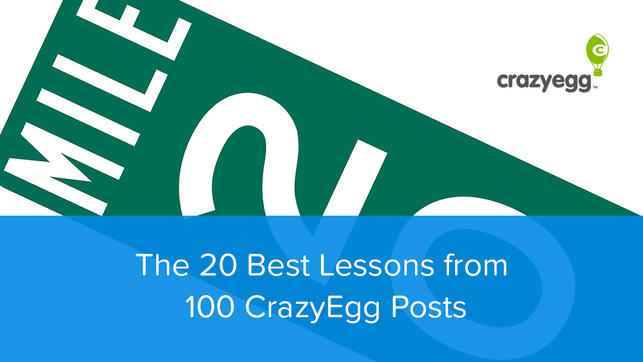 20 lessons from 100 crazy egg posts