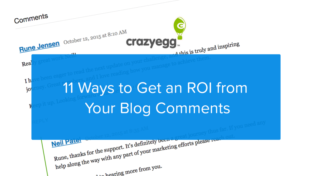getting an ROI from blog comments