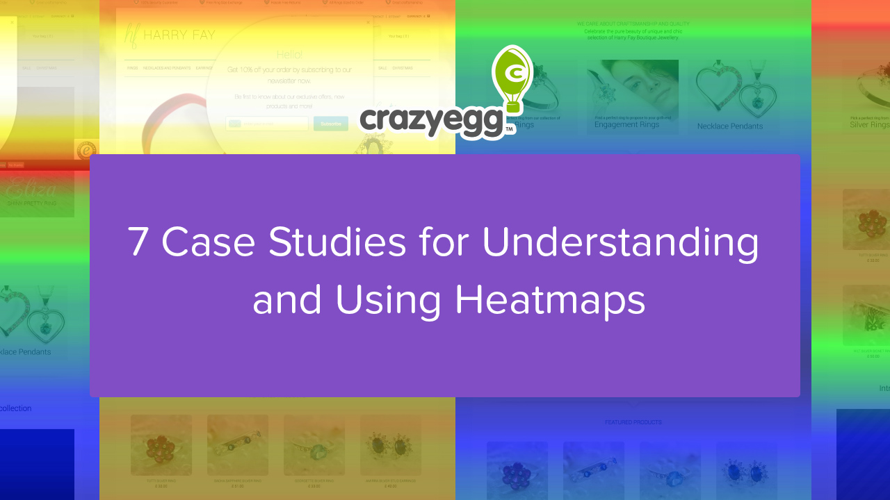 7 case studies heatmaps