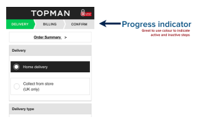 Topman progress indicator