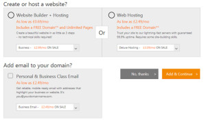 create or host a website