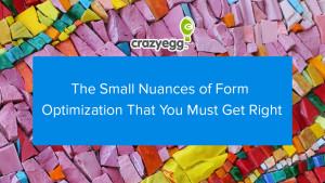 form optimization