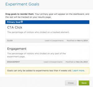 experiment goals 2