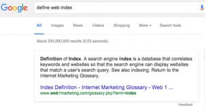 define web index