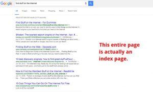 google index page