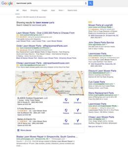 google lawnmower parts