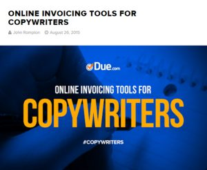 invoicing tools for copywriters