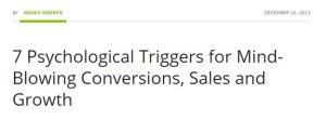 psychological triggers conversions sales