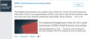 KPMG small business accounting ad