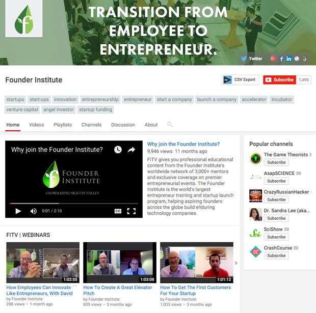 founder institute youtube