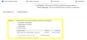 google adwords select campaign settings