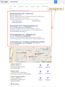 google nearby dentist