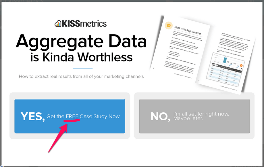 kissmetrics cta example