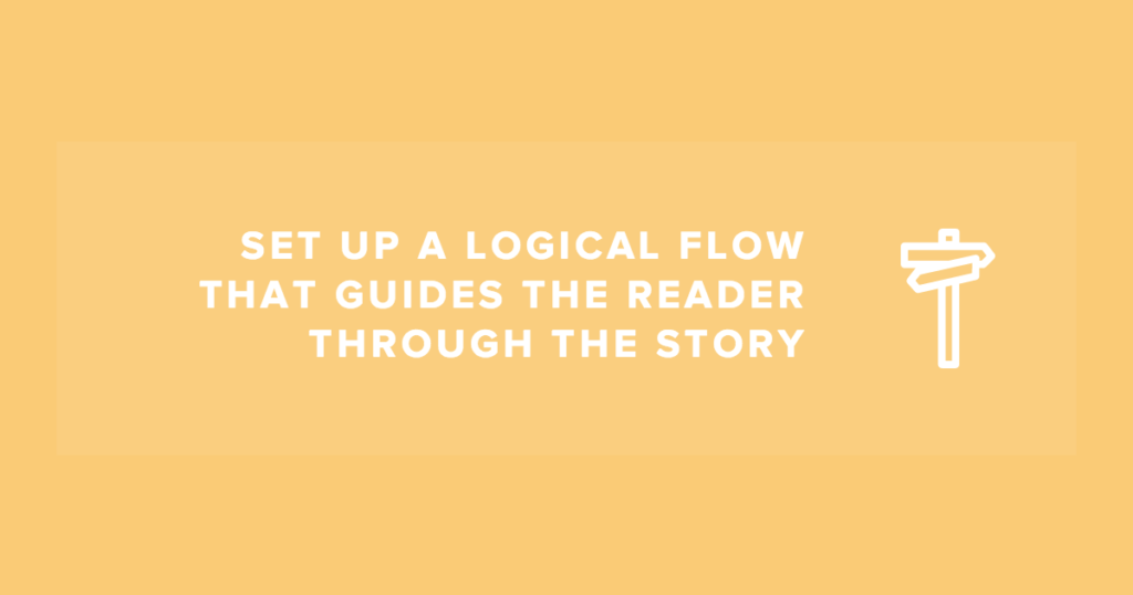 how to create a logically flowing infographic