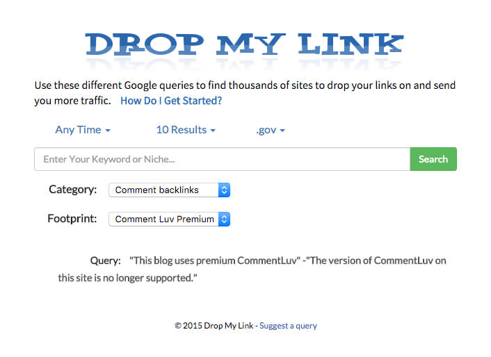 drop my link How to Get .Gov backlinks for your website or blog