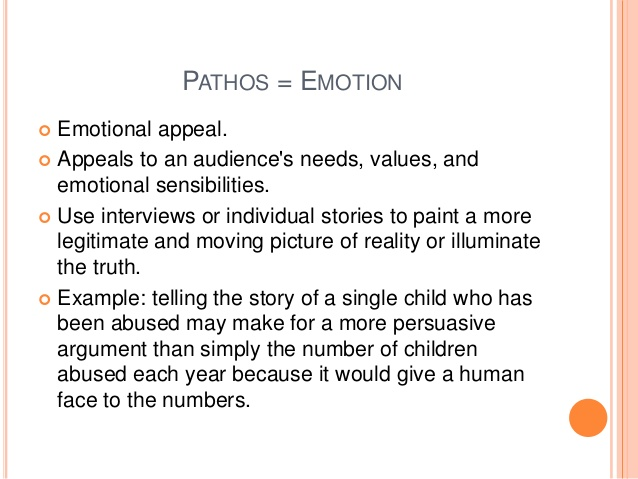 pathos equals emotion