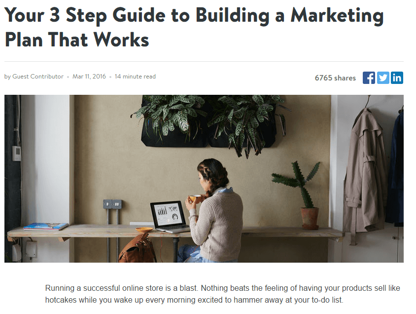 building a marketing plan that works