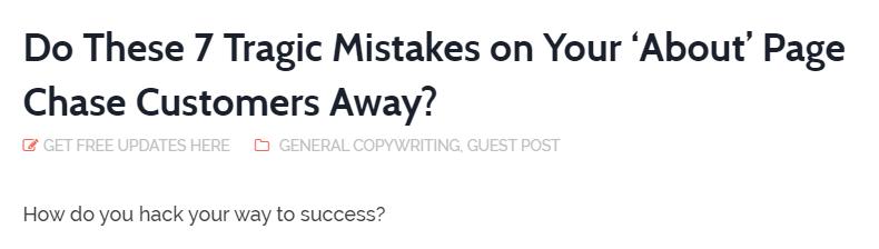 7 tragic mistakes
