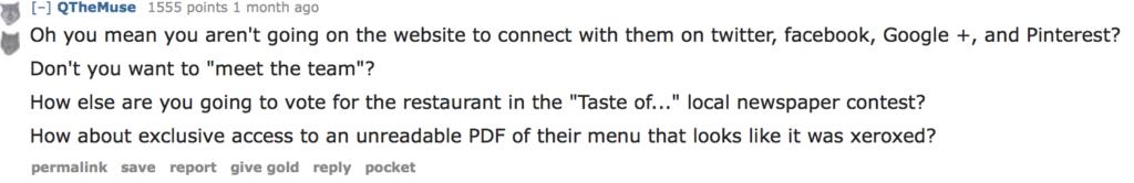 restaurant menu website fail