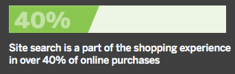 site search is a part of the shopping experience