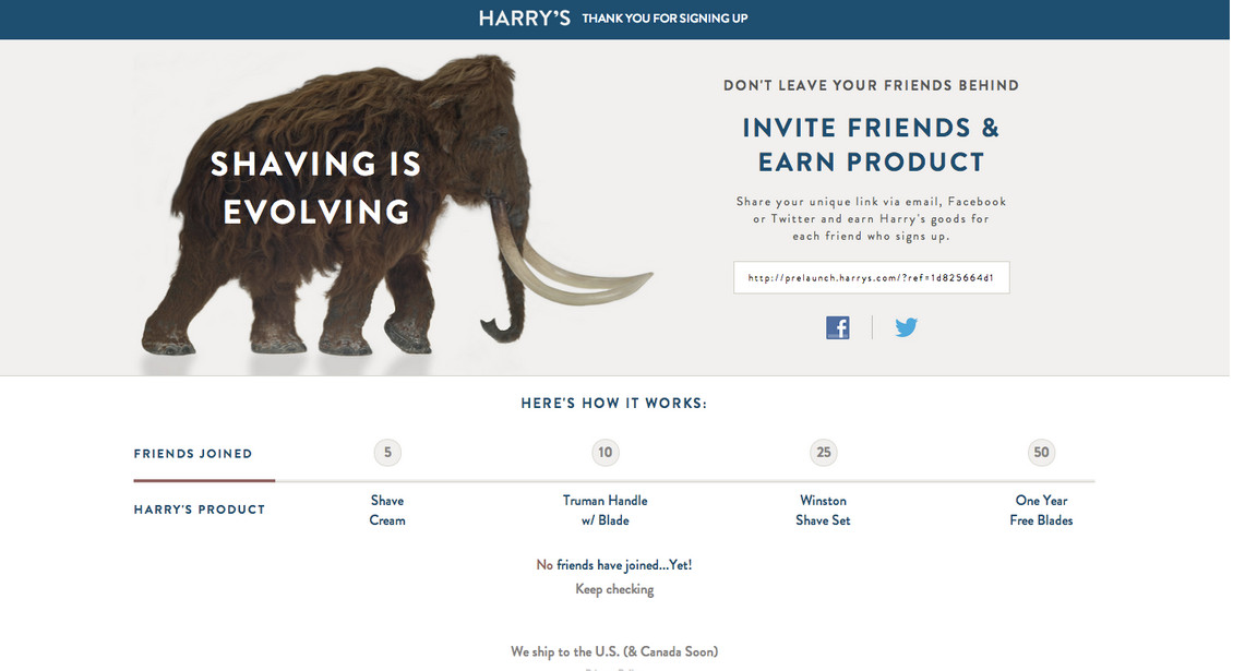 referral marketing harrys gamification