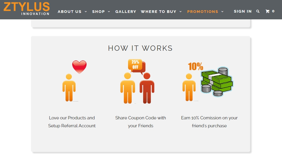 ecommerce referral marketing ztylus