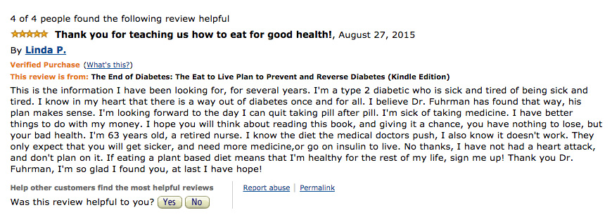 the end of diabetes review