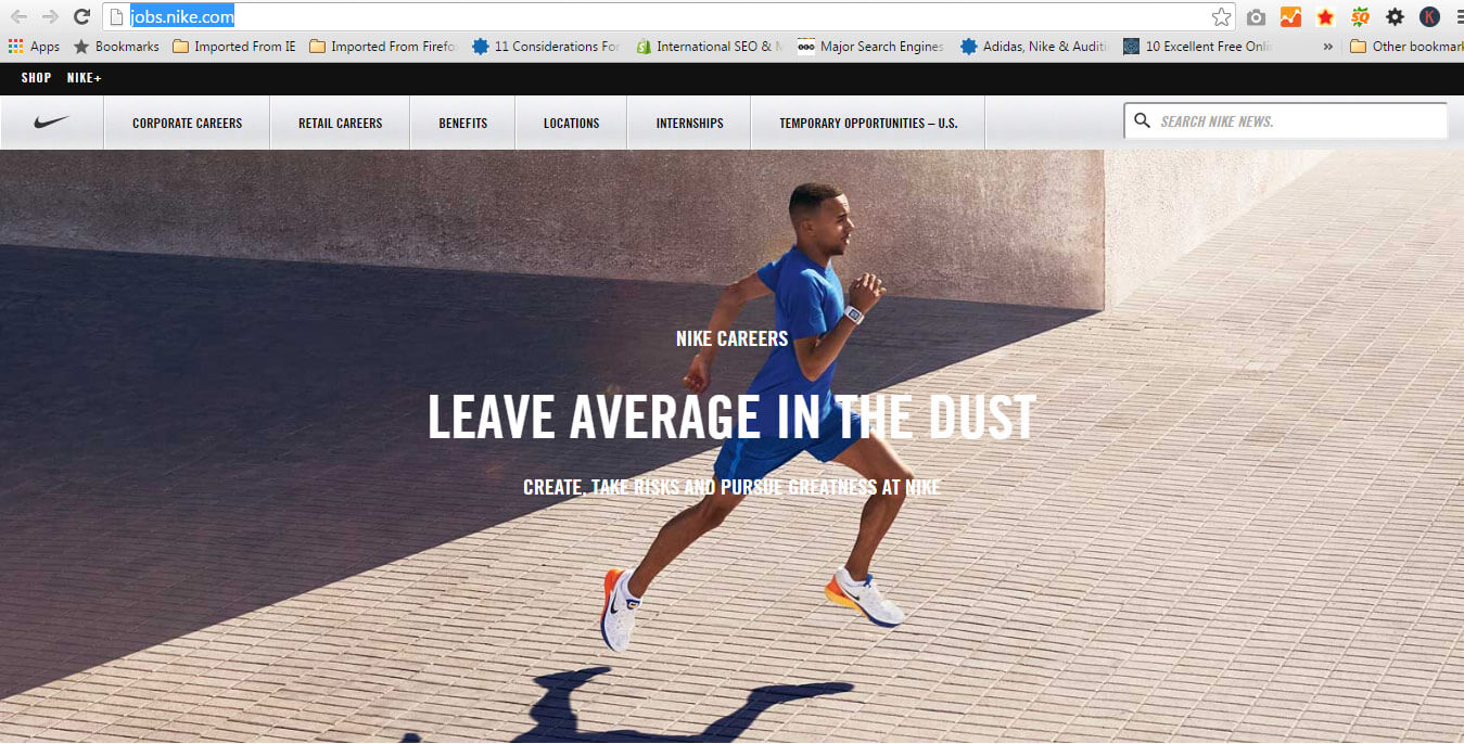 leave average in the dust ad campaign