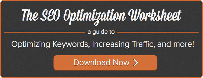 SEO optimization worksheet